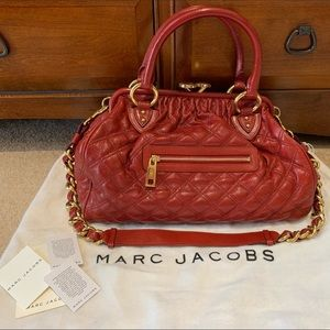 Marc Jacobs Red & gold bag. Mint condition.
